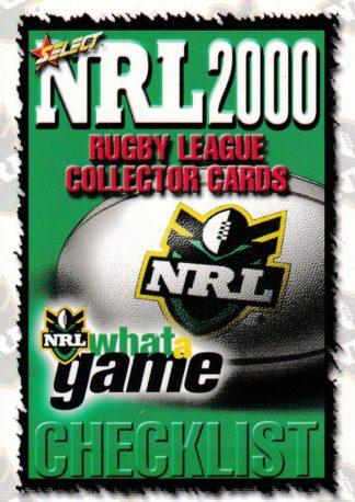 2000 Select NRL