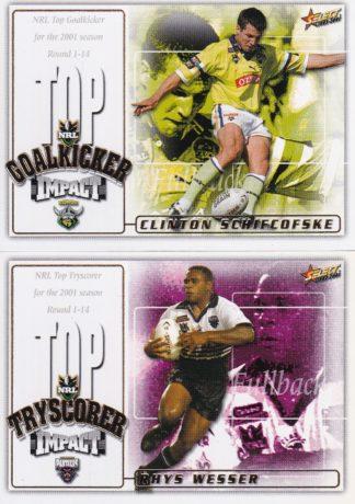 2001 NRL Impact Box Cards