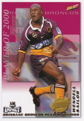 2001 NRL Impact Club Player Of The Year