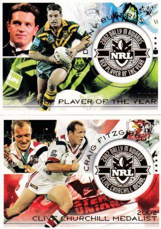 2003 NRL XL Dally M Award Winners