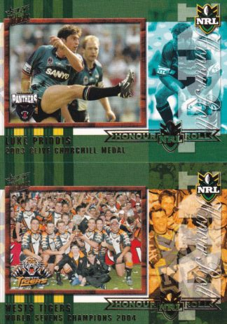 2004 NRL Authentic Honour Roll