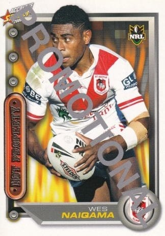 2006 NRL Accolade Promotional Cards
