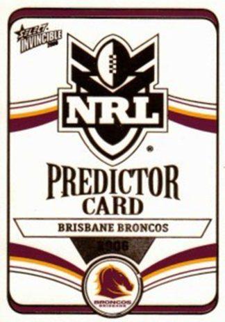 2006 NRL Invincible Premiership Predictors