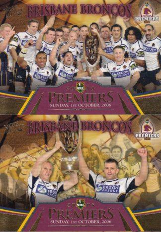 2006 NRL Invincible Redeemed Premiers Set