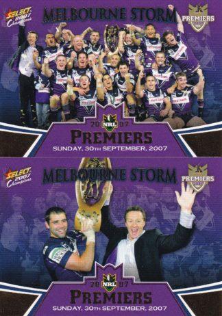2007 NRL Invincible Redeemed Premiers Set