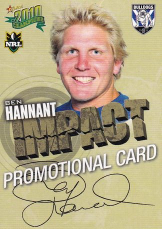 2010 NRL Champions Promotional Cards