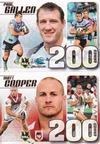 2012 NRL Dynasty Case Cards