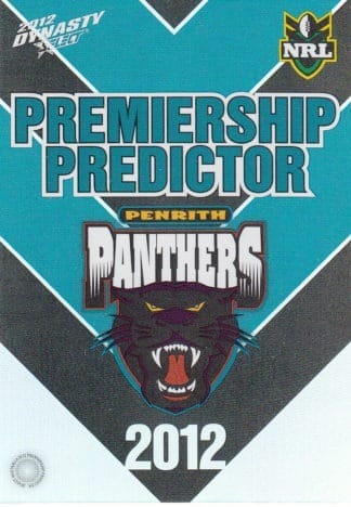 2012 NRL Dynasty Premiership Predictors