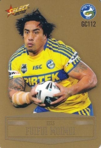 2012 NRL Champions Parallel Gold Cards