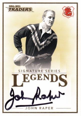 2013 NRL Traders Legends Signature Cards