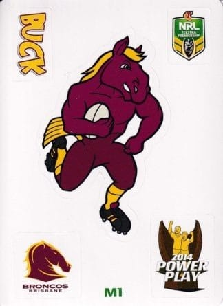 2014 NRL Power Play Mascot Jigsaw Stickers