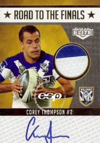2015 NRL Elite Road To Finals Jersey Patch Cards