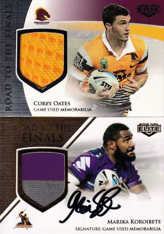 2016 NRL Elite Road To Finals Jersey Patch