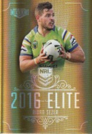 Aidan SEZER Raiders 2016 NRL Elite Gold Special 020