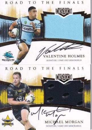 2018 NRL Elite Road To Finals Jersey Patch Signature