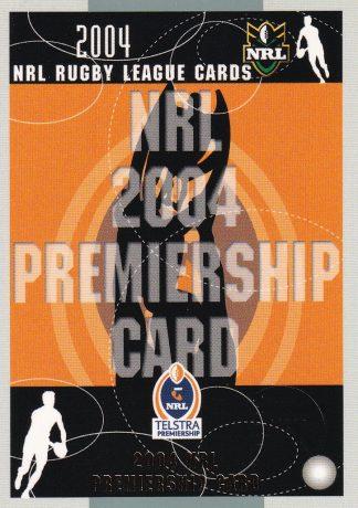2004 NRL Authentic Premiership Predictors