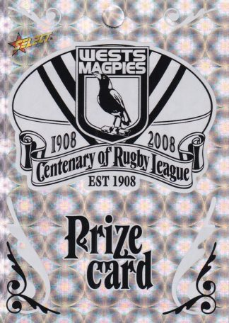 2008 NRL Centenary Prize Cards