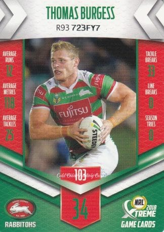 2018 NRL Xtreme Game Common Cards