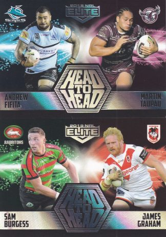 2019 NRL Elite Case Cards Head To Head