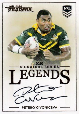 2020 NRL Traders Legends Signature Cards