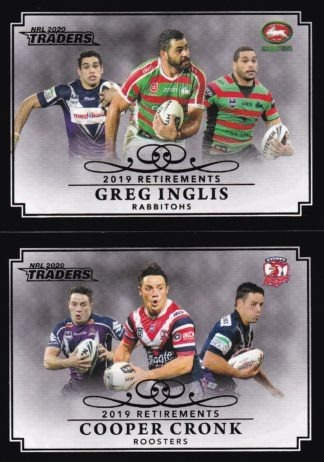 2020 NRL Traders Retirement Parallels - Case Cards