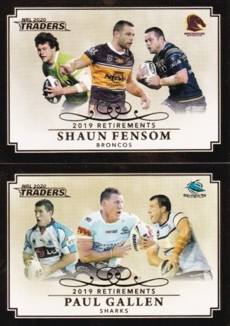 2020 NRL Traders 2019 Retirements