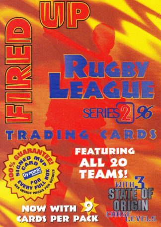 1996 Dynamic Series 2 All Fired Up Promotional Card
