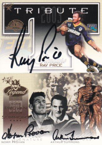 2003 NRL XL Redemption Signatures