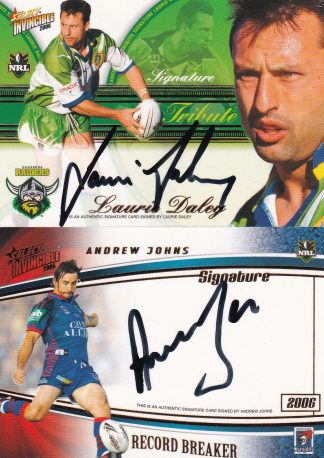 2006 NRL Invincible Signature Redemptions
