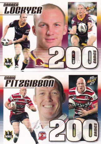 2007 NRL Invincible Case Cards