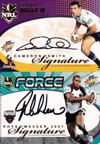 2007 NRL Invincible Signature Redemptions