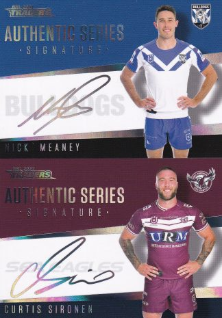 2021 NRL Traders Signature Series Silver