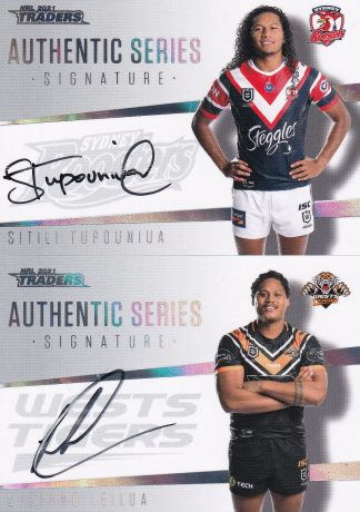 2021 NRL Traders Authentic Signatures White