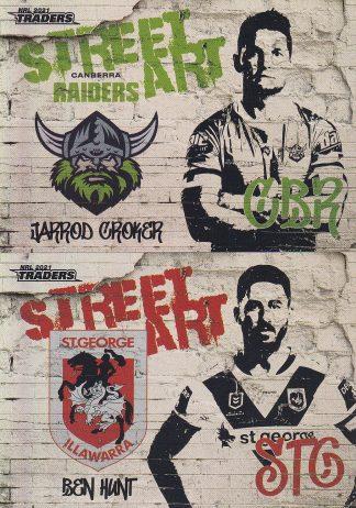 2021 NRL Traders Street Art White