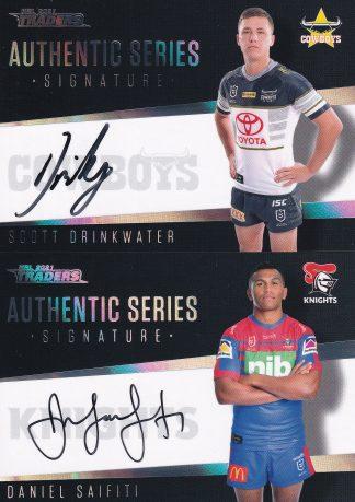 2021 NRL Traders Authentic Signatures Black